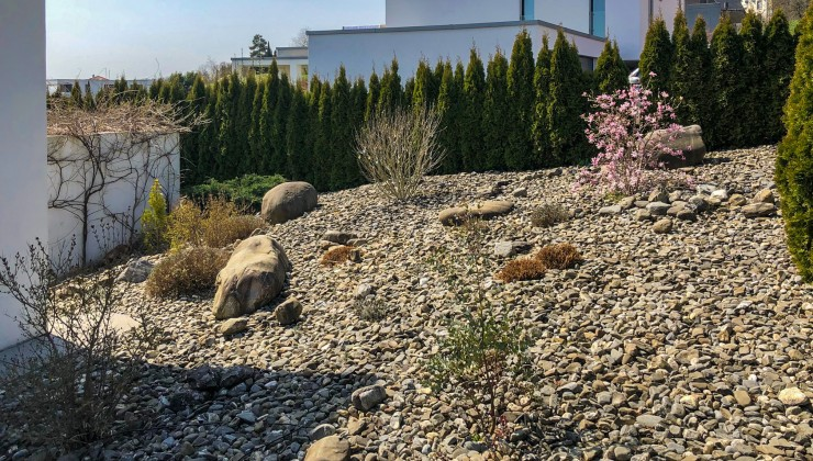 Gartenarbeiten Vorher- Nachher